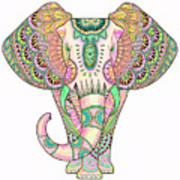 Mandala Elephant Psicodelic Art Print