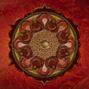 Mandala Flames Sp Art Print