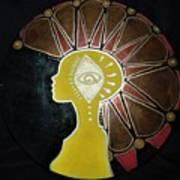 Mandala Mohawk  Art Print