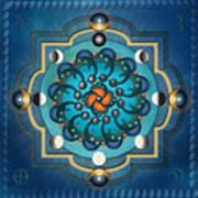 Mandala Moon Phases Art Print