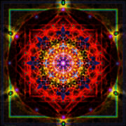 Mandala Of Womans Spiritual Genesis Art Print