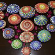 Mandala Stones Heart Art Print