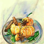 Mandarins Art Print