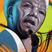 Mandela Watching Art Print