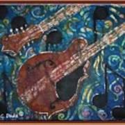 Mandolin - Bordered Art Print