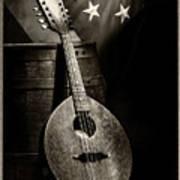 Mandolin America Antique Art Print