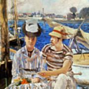 Manet: Boaters, 1874 Art Print