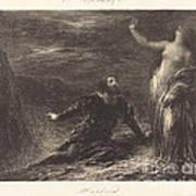Manfred And Astarte (2nd Plate) Art Print