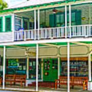 Mangia Mangia Pasta Market And Cafe On Key West Florida Art Print