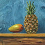 Mango And Pineapple Art Print