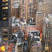 Manhattan At Dusk Art Print