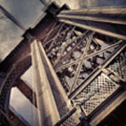 Manhattan Bridge From Below Art Print