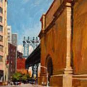 Manhattan Bridge From  Front Street, Brooklyn Art Print