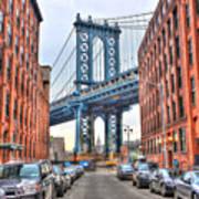 Manhattan Bridge Landscape From Dumbo Art Print