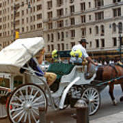 Manhattan Buggy Ride Art Print