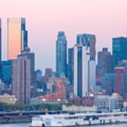 Manhattan Cruise Terminal And Skyline Art Print