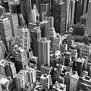 Manhattan In Monochrome. Art Print