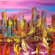Manhattan Purple By Mark Kazav Art Print