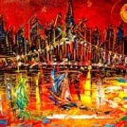 Manhattan Red Art Print