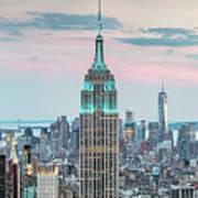 Manhattan Skyline Panoramic, New York City, Usa Art Print