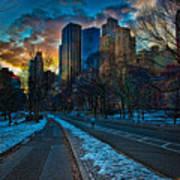 Manhattan Sunset Print by Chris Lord