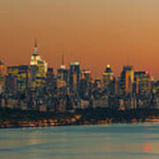 Manhattan Twilight I Art Print