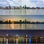 Manhattanhenge View From Across East River Print by Sasha Karasev