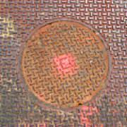 Manhole Mandala Art Print