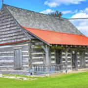 Manistique Schoolcraft County Museum Log Cabin -2158 Art Print