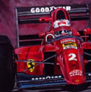 Mansell Ferrari 641 Art Print
