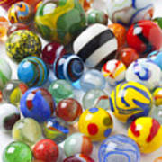 Many Beautiful Marbles Art Print by Garry Gay