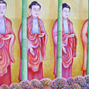 Many Budhas Art Print