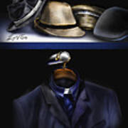 Many Hats One Collar Art Print