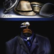 Many Hats One Collar Art Print
