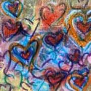 Many Hearts Art Print