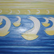Many Sailing Boats On The Sea Art Print