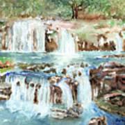 Many Waterfalls Art Print