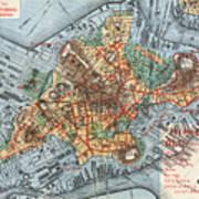 Map: Boston, C1880 Art Print
