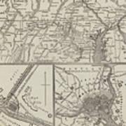 Map Illustrating General Lee's Advance Into Pennsylvania  Art Print
