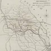 Map Illustrating General Sherman's March Through Georgia  Art Print