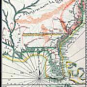 Map: North America, 1742 Art Print