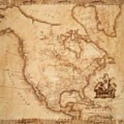 Map Of America 1800 Art Print