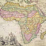 Map Of Africa Print by Pieter Schenk