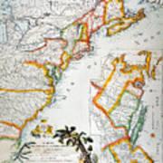 Map Of America, 1779 Art Print