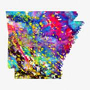 Map Of Arkansas-colorful Art Print