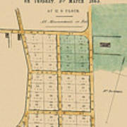 Map Of Auckland 1863b Art Print