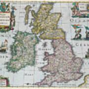 Map Of Britain Art Print