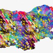 Map Of Bulgaria-colorful Art Print