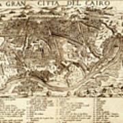 Map Of Cairo 1575 Art Print