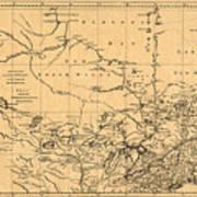 Map Of Canada 1762 Art Print